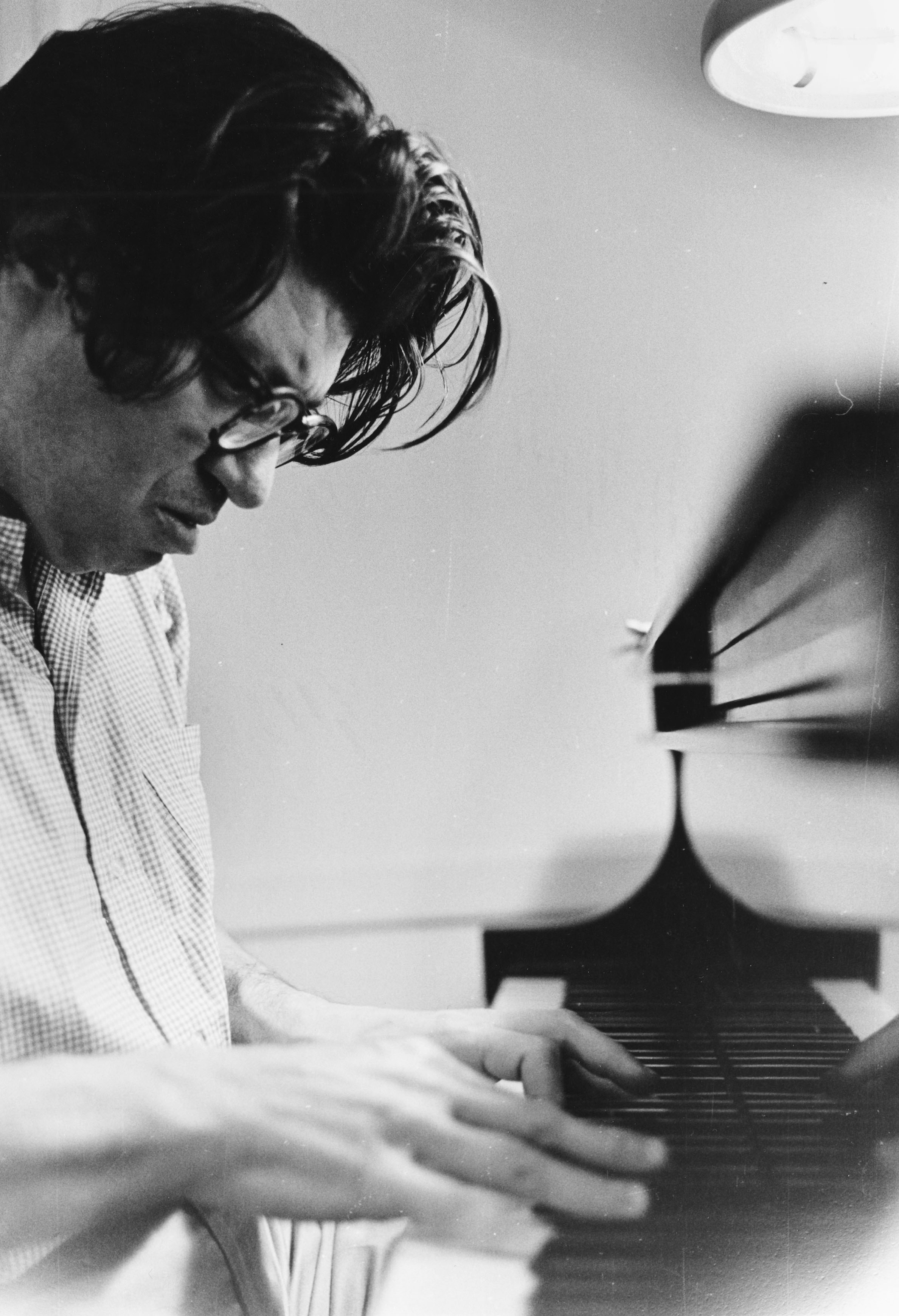 Feldman at the piano